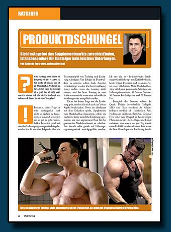 Sportrevue Kolumne 10.2006 - Produktdschungel