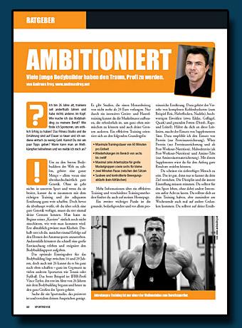 Sportrevue Kolumne 11.2006 - Ambitioniert