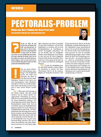 Sportrevue Kolumne 12.2006 - Pectoralis-Problem