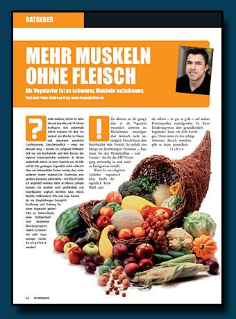 Sportrevue Kolumne 02.2007 - Mehr Muskeln ohne Fleisch