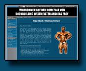 Homepage von Bodybuilding Weltmeister und BB-Profi Andreas Frey